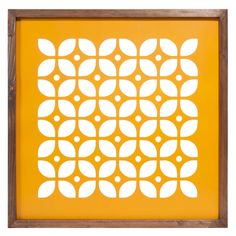 Metallbild gelb 50 x 50 cm CUT SEVENTIES