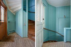 amazing hallway - Långö, Sweden (via the tiger and the house)