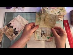 Embellishments, pockets and tuck spots for journals - YouTube