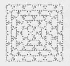 Pretta Crochet: Vestido Indah syra Crochet Square