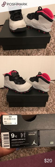 Toddler Girl's Jordan Retro 10s. Good condition Toddler Girl's Jordan Retro 10s. Good condition. Just need to be wiped off. Only worn a few times. Jordan Shoes Sneakers
