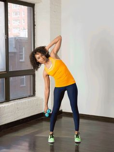5. Standing Side Bends With Dumbbells at Side #standing #abs #workout http://greatist.com/move/abs-workout-best-abs-exercises-you-can-do-standing-up