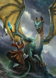 The Wizard and Dragon by ~firatsolhan on deviantART