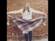 How to Tie Plaid Zara Blanket Scarf