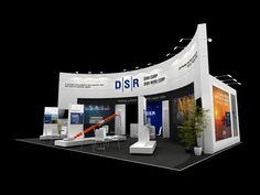DSR exhibition stand, 2014 on Behance Exhibition Stall Design, Exhibition Booth, Exhibition Stands, Stand Design, Booth Design, Trade Show, Design Reference, Singapore, Behance