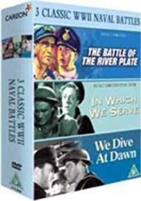#Battle of the River Plate/In Which We Serve/We #A box set of classic war films. The Battle of the River Plate (1956) was Michael Powell and Emeric Pressburgers penultimate film and tells the true story of the famous 1939 naval battle. Hans Langsdorff (Peter Finch) ... (Barcode EAN=5037115056030)