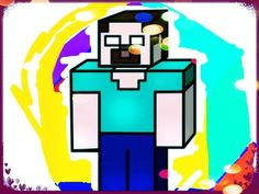 Minecraft funny draw |Surprise with Nursery Rhymes for Kids|