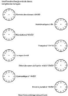 apprendre à lire l'heure | Quelle heure est-il ...