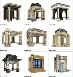★Sketchup Types of Pavilion Design Sketchup Models Sketchup models collection can be used in your design max,Revit) 3d Model Architecture, Concept Architecture, Architecture Details, Landscape Architecture, Architecture Definition, Enterprise Architecture, System Architecture, Pavilion Architecture, Chinese Architecture
