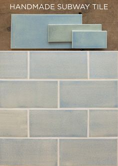 Handmade Subway Tile, made in USA by Mercury Mosaics. The perfect solution for your home renovation tile project! Subway Tile - Blue Opal glazes to choose from, with samples available. Blue Backsplash, Subway Tile Backsplash, Dark Brown Cabinets, White Cabinets, Kitchen Cabinet Layout, Kitchen Wall Decals, Brown Kitchens, Tile Crafts