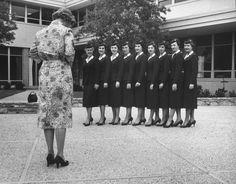Stewardess school, Texas, 1958