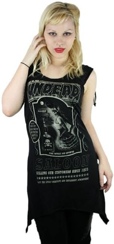 SARINA - SALOON TooFast Clothing Punk Rock Gothic Girls Tops Tees  $36.99