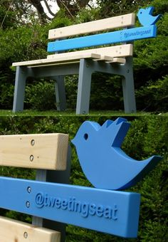 TweetingSeat from Christopher McNicholl. Bench logs its usage by uploading images of its users and environment to a live Twitter feed. @TweetingSeat
