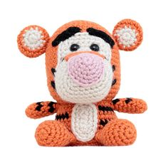Fat Face Tiger crochet amigurumi pattern inspired by the colours of Tigger from Winnie the Pooh.    PLEASE NOTE: This listing is for the pattern