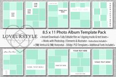 8.5x11 Photo Yearbook Album Template by Loveurstyle Designs on @creativemarket