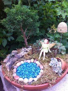 Fairy garden for Robin.
