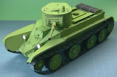 WW2`s Russian Tank BT-5 Paper Model - by Cardmodel Blog 54      The Real Thing This really beautiful paper model of the Russian Tank BT-5 was created by Japanese designer The Cho, from Cardmodel Blog 54 website.