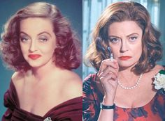 Susan Sarandon and Bette Davis from Feud: Bette and Joan Transformations: See How Much the Cast Looks like the Real-Life Figures