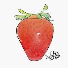 Strawberry​ season has just begun, you can enjoy full june #seasonal_chezdomia  #fruits #strawberry #season #foodporn #illustration #foodillustration #aquarelle #drawing #sketch #sketch #foodillustration #illustartion #watercolours #food #foodsketch #strawberry #truskawka