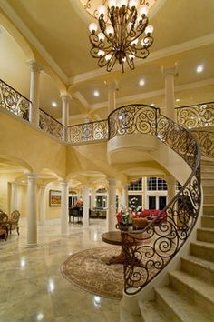 Gorgeous foyer and staircase, interior design ideas and home decor by Casa Paralea Designs