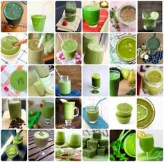 30 Delicious Green Smoothie Recipes, like:  Lemony Green, Carrot Cake Green Monster, Nopal (Cactus),  Romaine-Apple Cinnamon; Pear, Mint & Ginger; Pineapple Mango; Savory & Spicy; Kale & Pear; Key Lime Pie; Kale, Strawberry & Tangerine; PB, Cocoa & Spinach (?!), and Green Apple Drinks