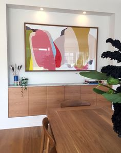 The dining room at Lauren and Matt Wilson's Geelong home for Open for Inspection… Living Room Art, Living Spaces, Dining Decor, Dining Room, Casa Pop, Interior Decorating, Interior Design, Design Interiors, Mid Century House