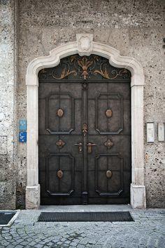 door in the old town of salzburg