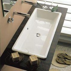 Large Bathroom Sink, Large Bathrooms, Cabin Bathrooms, Modern Bathroom, Master Bathroom, Bathroom Ideas, Trough Sink, Basin Sink, Concrete Sink