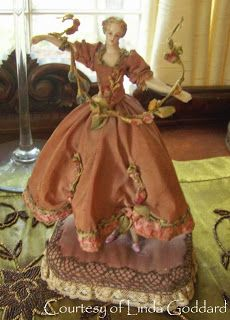 Here are photos of some outstanding half dolls - Linda Goddard, owner of Guilty Pleasures . Sugar Bowl - note that her skirt serves as. Fabric Dolls, Paper Dolls, Ribbon Art, Silk Ribbon, Half Dolls, Hello Dolly, Doll Head, Diy Doll, Vintage Dolls