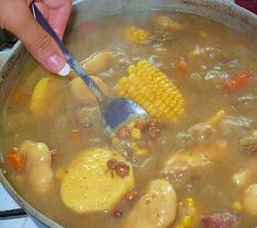 Bahamian Peas Soup and dough