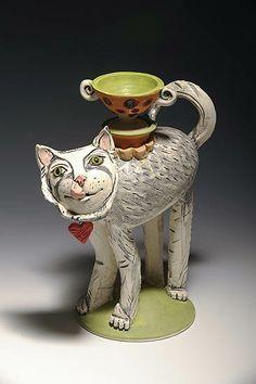 http://bluespiral1.com/ AMY GOLDSTEIN RICE White Tea Catty
