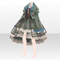 Clockwork City Cat Lattice Dress Style ver.A green Steampunk Cat, Cat City, Cocoppa Play, Character Outfits, Chibi, Anime Art, Cats, Wonderland, Outfit Ideas