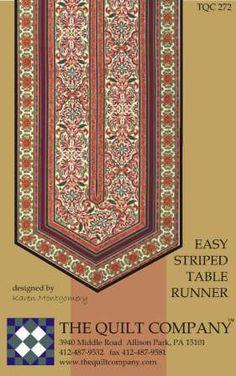 Table Runner Pattern Easy Stripe by GabbysQuiltsNSupply on Etsy