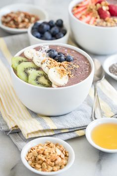 Serve these super tasty and healthy Acai Bowls for breakfast or even dessert!