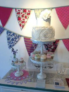 Bunting made from various cotton fabrics available in store