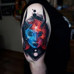 Tattoo artist Artemijs Saveljevs color abstract realistic tattoo in authors style | Russia