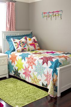 bright colors star quilt