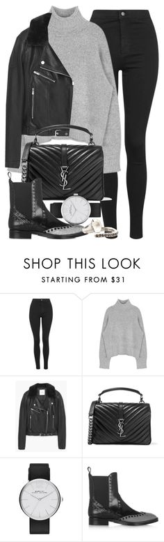 """Untitled #11078"" by minimalmanhattan ❤ liked on Polyvore featuring Topshop, MANGO, Yves Saint Laurent, Marc by Marc Jacobs, Alexander Wang, Rosa Maria, women's clothing, women, female and woman"
