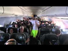 Federal investigators look into a Harlem Shake video recorded by members of the Colorado College Ultimate Frisbee Team on board a Frontier Airlines flight. Harlem Shake, Onion Headlines, Colorado College, Kiss Fm, Ultimate Frisbee, People Dancing, Gangnam Style, Can't Stop Laughing, Investigations