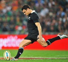 Rugby rhetorical figures: Metonymy: 'boot' for 'foot'. Synecdoche: 'foot' for 'kicker'. Hyperbole: 'Dan Carter'.