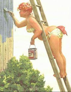 Duane Bryers' curvy pin up girl hilda Arte Pin Up, Pin Up Art, Pin Up Girls, Daisy May, Wow Art, Pin Up Style, Pics Art, Photos Du, Big And Beautiful
