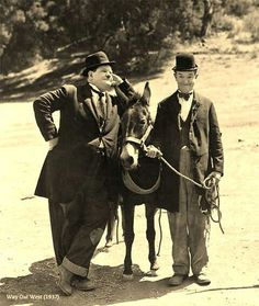Laurel and Hardy in Way Out West Talking Film 1937. Laurel and Hardy's films were often on television during the school holidays. So much better than the low-quality imported cartoons our grandchildren are fed!