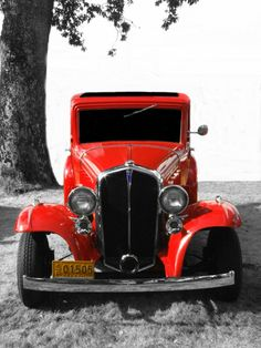 Altered RED 1934 PONTIAC  Classic Hotrod 8x10 by terrymillsphoto,