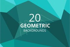 Set of geometric backgrounds by LarisaDeac on Creative Market