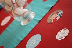 Season Opener: Baseball Party Ideas. Table decor ideas from @Pear Tree Greetings