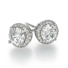 Diamond Stud Earrings 18K White Gold 2.50 ctw Certified Round Cut 1 1/3 ct Center Stones H Color I1 Clarity Brillianteers, http://www.amazon.com/dp/B0094ILOL8/ref=cm_sw_r_pi_dp_sYLYqb14Y55AB