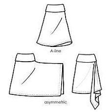 The Tapton comfortable envelope skirt skirt pattern (for stretch knit fabrics) - Knitting New Skirt Patterns Sewing, Sewing Patterns Free, Clothing Patterns, Fabric Patterns, Skirt Sewing, Pattern Sewing, Pattern Skirt, Fabric Sewing, Sewing Aprons