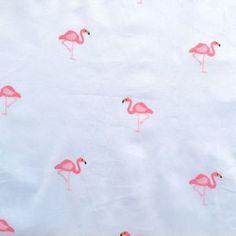 Tissu ciel flamingo
