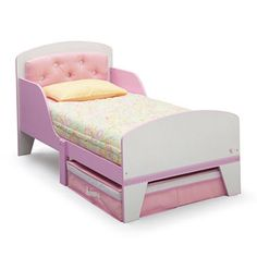 jcpenney.com | Jack & Jill Toddler Bed With Upholstered Headboard - Pink and White