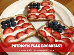 Easy 4th of July Breakfast Idea